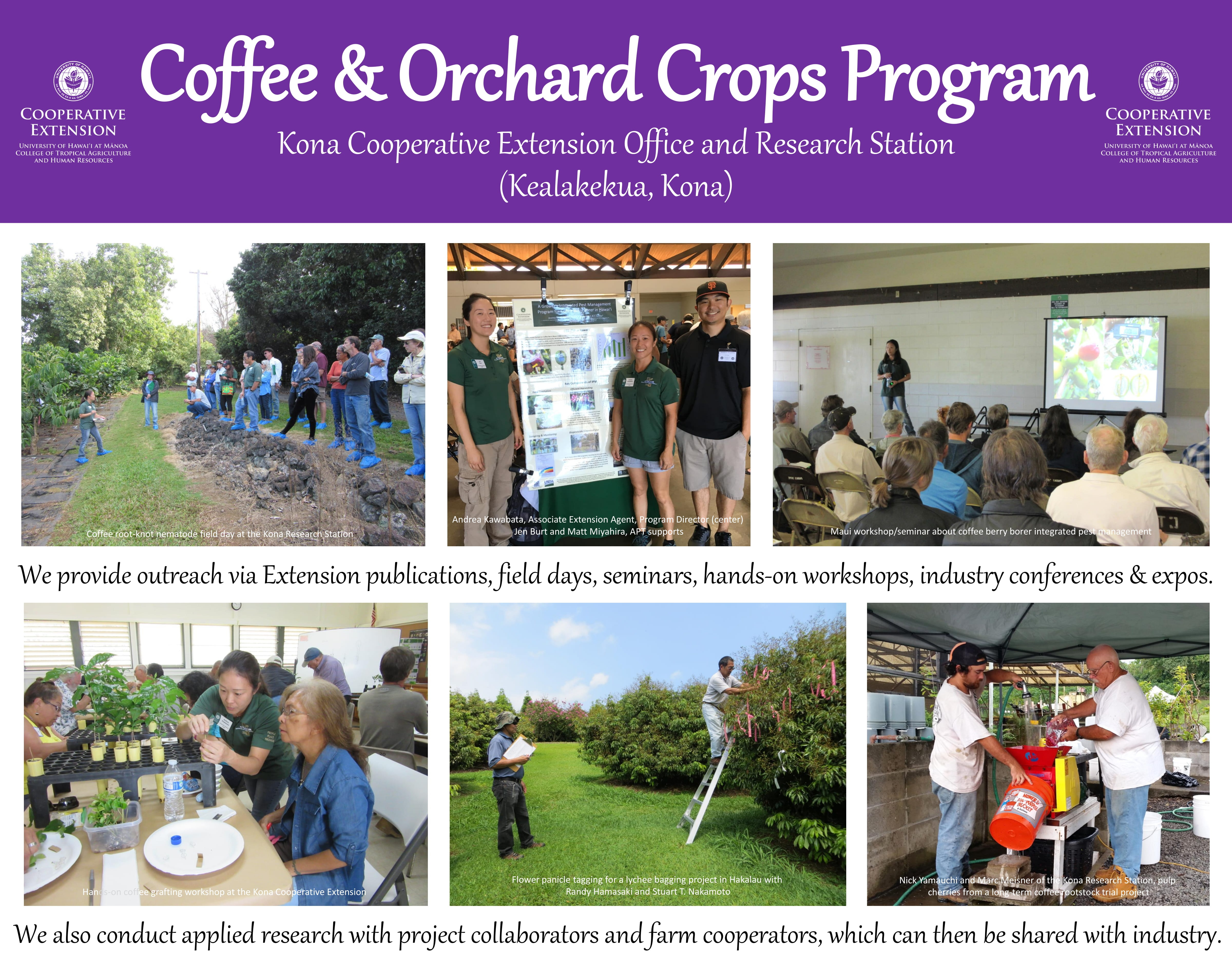 Coffee & Orchard Crops Poster