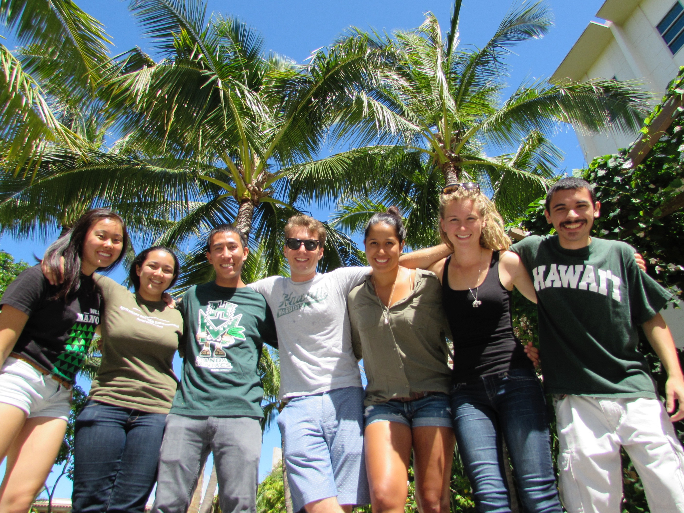 Group of CTAHR Students linked together