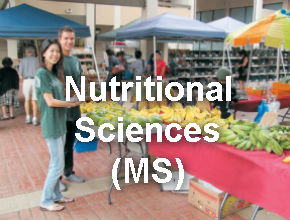 Nutrition Sciences students in front of Campus Center