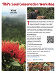 ʻŌhiʻa Seed Conservation Workshop Series: Kona, Hawaiʻi