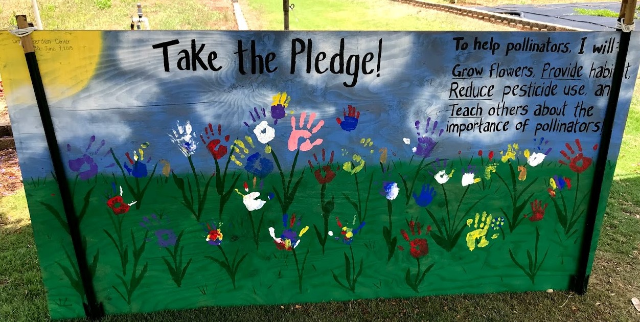 Pollinator pledge board from the Urban Garden Center's Second Saturday at the Garden in Pearl City, June 9, 2018.
