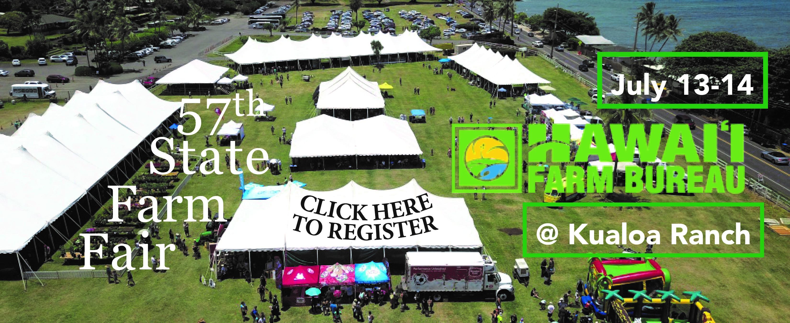 57th State Farm Fair: July 13-14 @ Kualoa Ranch
