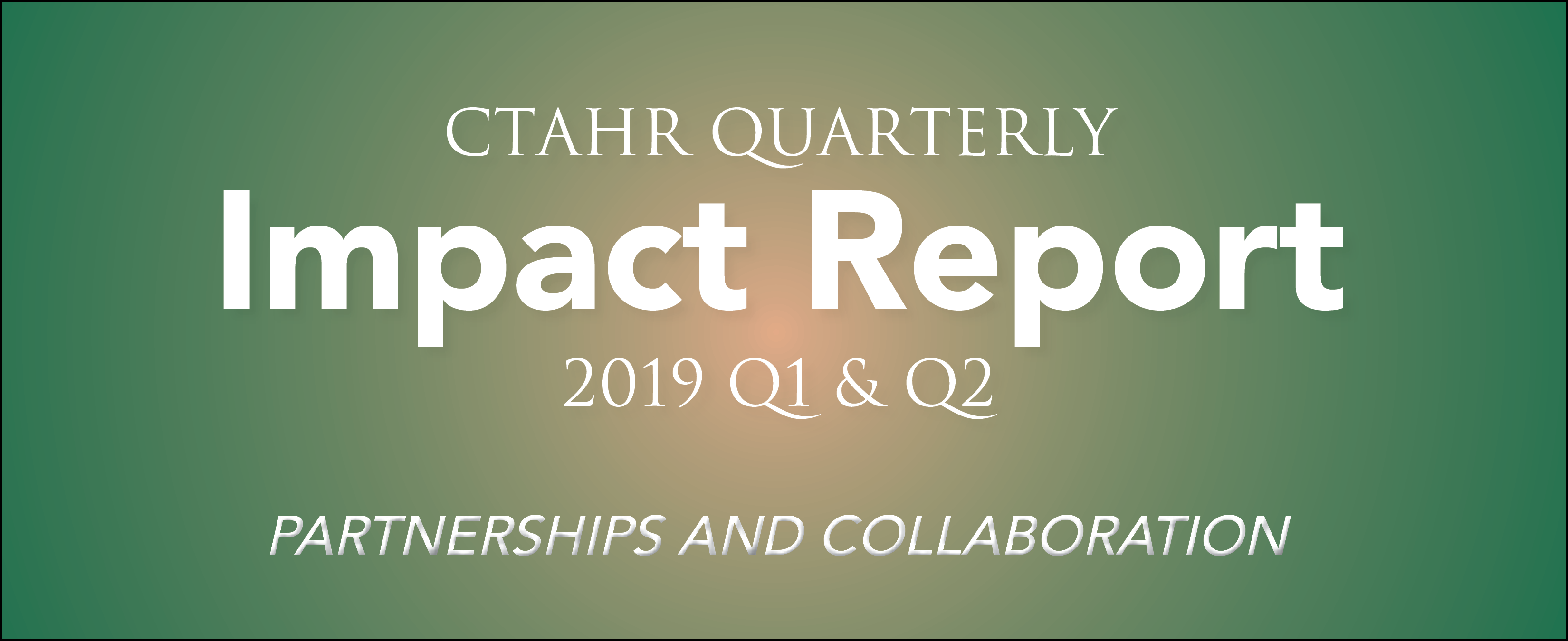 2019 Impact Report, Partnerships and Collaboration
