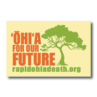 Ōhiʻa For Our Future sticker