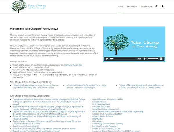 Take Charge of Your Money Website
